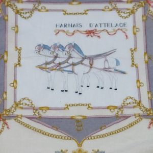 Vintage Celine Horse Chariots Handkerchief